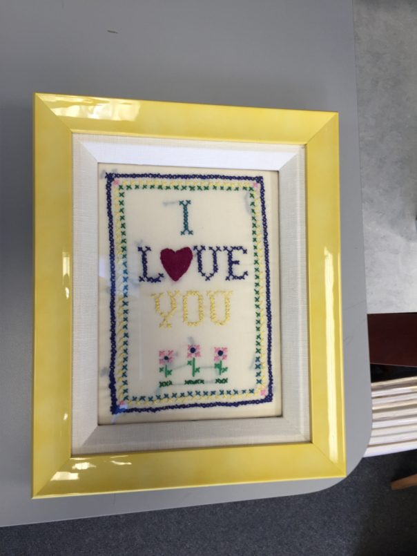 Bright custom picture framing